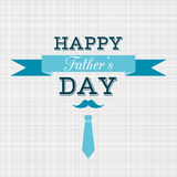 Szczęśliwy ojca dnia wektoru kartka z pozdrowieniami Obrazy Stock