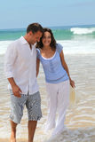 szczęśliwy pary miesiąc miodowy Obrazy Royalty Free
