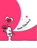 szczęśliwy valentine Fotografia Royalty Free