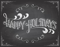 Szczęśliwy wakacje Chalkboard Obrazy Stock