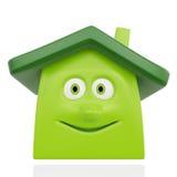 Szczęśliwy zielony dom Obraz Royalty Free