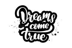Szczotkarscy literowanie sen przychodzą prawdziwego ilustracja wektor