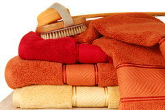 szczotkarscy luksusowi mydlani miękcy ręczniki Fotografia Royalty Free