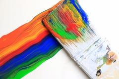 szczotkarska kolorowa farba Obraz Royalty Free