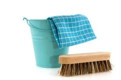 szczotkarski bcket cleaning zdjęcia stock