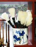 szczotkarski chiński tradycyjny writing zdjęcie royalty free