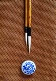 szczotkarski chiński writing Zdjęcie Stock