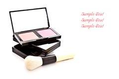 szczotkarski koloru makeup set Fotografia Royalty Free