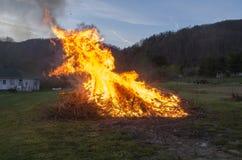 Szczotkarski ogień Fotografia Royalty Free