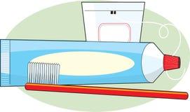 szczotkarski pasta do zębów Obraz Royalty Free