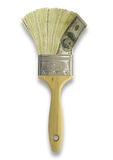 szczotkarski pieniądze Zdjęcia Stock