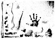 szczotkarski set bryzga plam uderzeń wektor royalty ilustracja