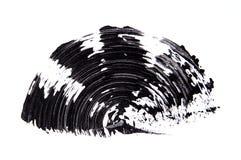 Szczotkarski strok czarny cień tusz do rzęs na bielu Fotografia Stock