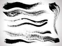 szczotkarskiego atramentu ustalony uderzeń wektor royalty ilustracja