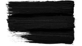 Szczotkarskiego uderzenia przemiany czarny i biały tło Animacja farby pluśnięcie Abstrakcjonistyczny tło dla reklamy i zdjęcia stock