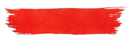 szczotkarskiej farby czerwony uderzenie Fotografia Royalty Free