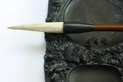 szczotkarskiej kaligrafii chiński inkstone narzędzie Fotografia Stock