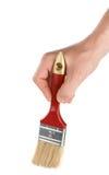 szczotkarskiej ręki męski czerwony biel Zdjęcia Royalty Free