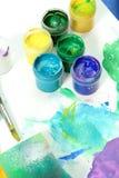 szczotki artysty farb narzędzi Obraz Royalty Free