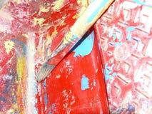 szczotki farba jest artystą Obrazy Royalty Free