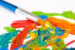 szczotki farby artysty Zdjęcia Stock