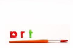 szczotki liter farby sztuki Obraz Stock