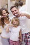 Szczotkować nasz zęby Obraz Royalty Free
