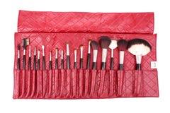 szczotkuje kosmetycznego set Fotografia Royalty Free