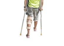 Szczudło i złamana noga zdjęcia stock