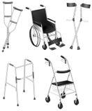 Szczudła i wózki inwalidzcy Zdjęcie Stock
