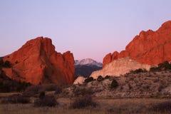 Szczupaka szczyt i ogród bóg przy wschodem słońca Fotografia Royalty Free