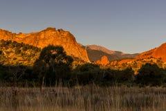 Szczupaka szczyt przy wschodem słońca Obrazy Royalty Free