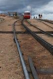 Szczupaki Osiągają szczyt cog linię kolejową obrazy stock
