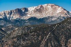 Szczupaki osiągają szczyt Colorado skaliste góry Zdjęcie Stock