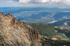 Szczupaki osiągają szczyt Colorado skaliste góry Obrazy Royalty Free