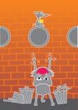 szczur kota Royalty Ilustracja