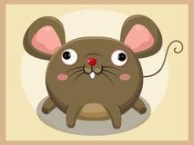 Szczur kreskówka zwierzęcych postać z kreskówki śmieszny odosobniony przedmiotów wektor Fotografia Stock