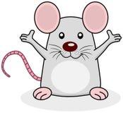 Szczur szczęśliwy otwiera ręki Obrazy Royalty Free