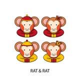 Szczura Chiński Szczęśliwy nowy rok Zdjęcie Royalty Free
