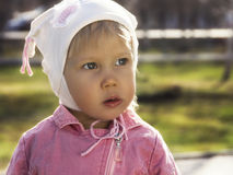 Szczwana mała dziewczynka Obraz Royalty Free