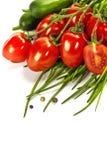 szczypiorków ogórków pomidory Zdjęcia Stock