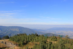 Szczyrk - view summit of Skrzyczne Royalty Free Stock Photography