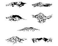 7 szczytów ilustracja Fotografia Stock