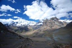 szczytów Peru śnieg Obraz Stock