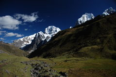 szczytów Peru śnieg Obrazy Stock