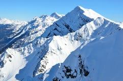 Szczyt Aibga góra, Krasnaya Polyana, Sochi Fotografia Stock