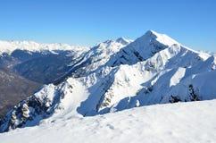 Szczyt Aibga góra, Krasnaya Polyana, Sochi Zdjęcie Royalty Free