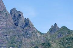 Szczyt Cirque Cilaos góra na losu angeles spotkania wyspie Zdjęcia Royalty Free