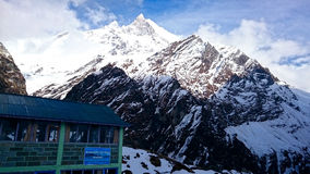 Szczyt góra, Nepal Fotografia Royalty Free