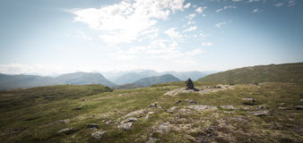 Szczyt górski Sunndalen Fotografia Stock